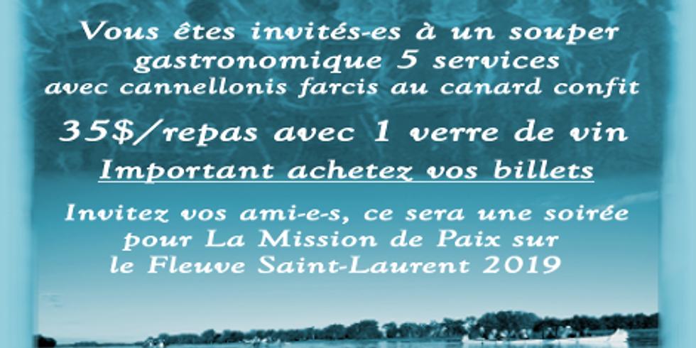 Banquet-Bénéfice La Mission de Paix sur le Fleuve Saint-Laurent