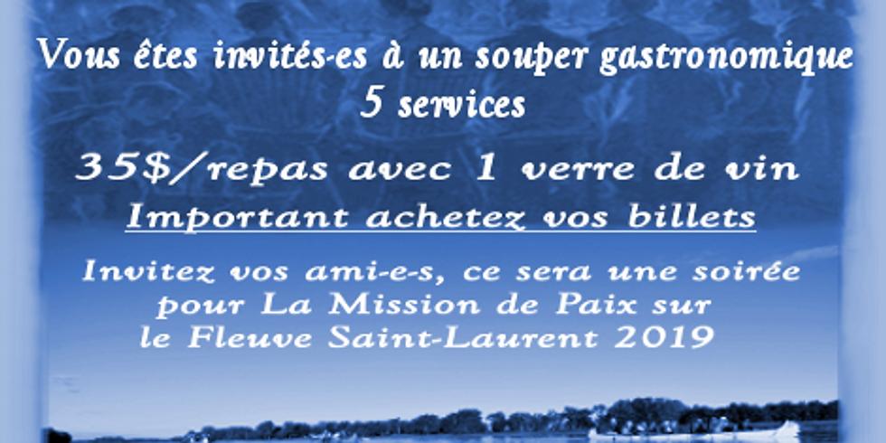 2e Banquet-Bénéfice La Mission de Paix sur le Fleuve Saint-Laurent