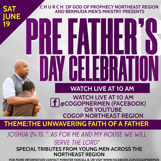REGIONAL PRE FATHERS DAY- Blessing Right where you are....