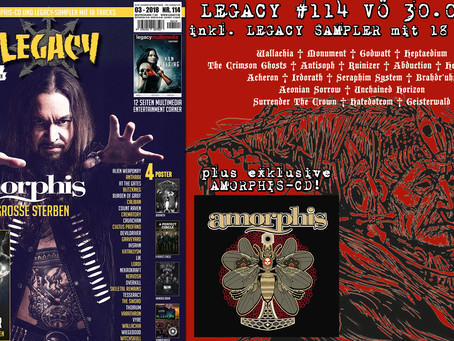 LEGACY, The Voice From The Dark Side Magazine #114