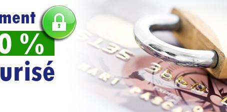 Moyens de paiements 100 % sécurisés