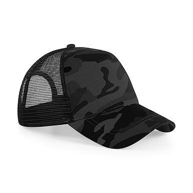 Snapback Trucker Cap - MIDNIGHT CAMO