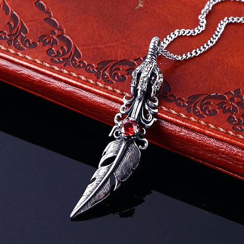 DARK Necklace - Vampire Feather