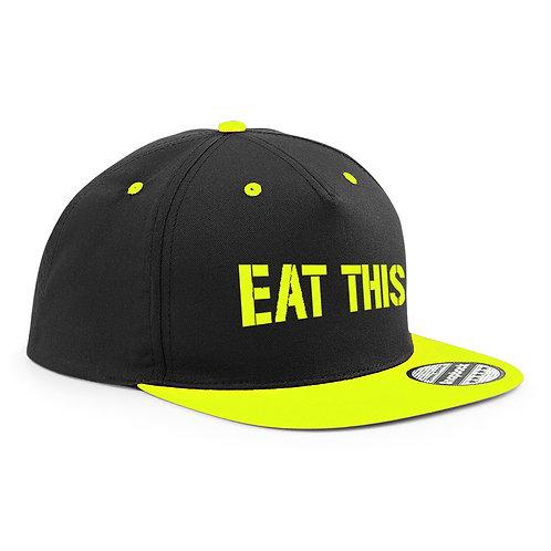 Casquette Snapback « Eat This » noir et jaune