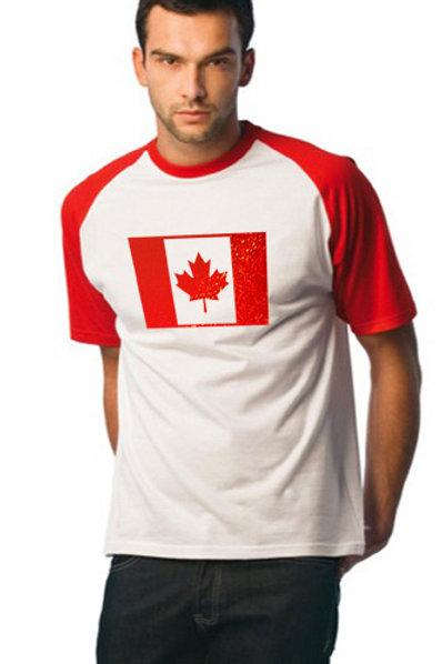 Tee-Shirt Baseball Canada Fashion