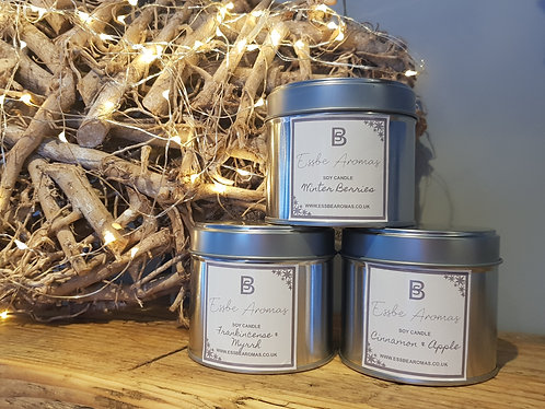 Winter Berries - Soy Tin Candle