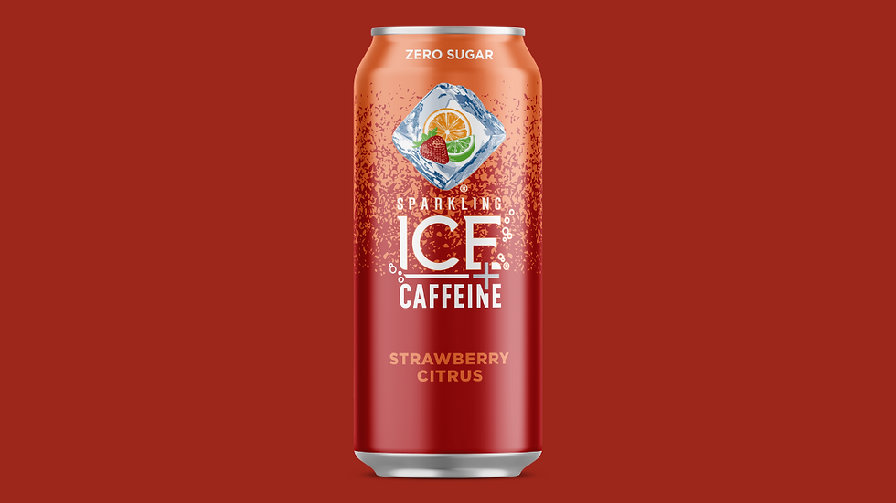 Sparkling ICE + Caffeine Strawberry Citrus