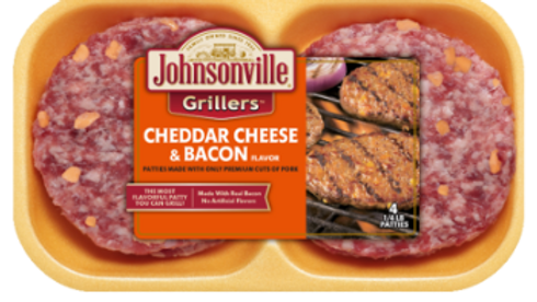 Johnsonville Griller Cheddar & Bacon paq 4 unid