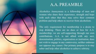 A.A. Preamble