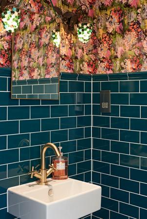 West London Victorian Villa, featuring bespoke wallpaper commission