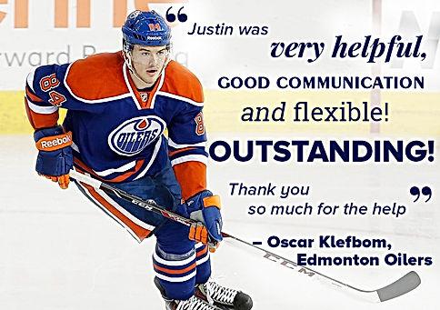 Oscar Klefbom Edmonon Oilers Recommends Edmonton Realtor