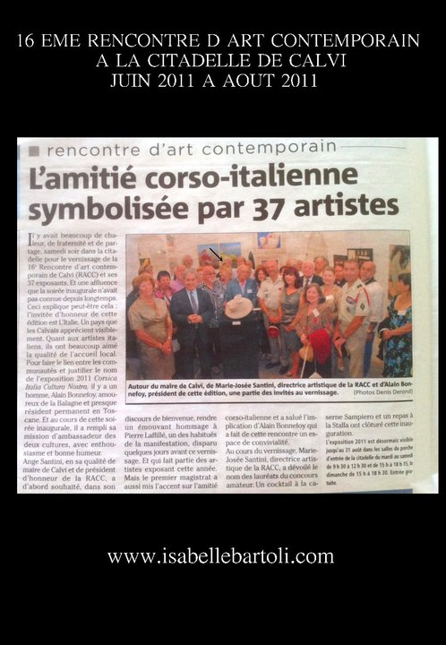 ARTICLE CORSE MATIN EXPO CALVI