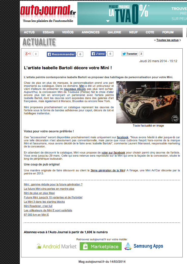 Article Auto Journal Mars 2014