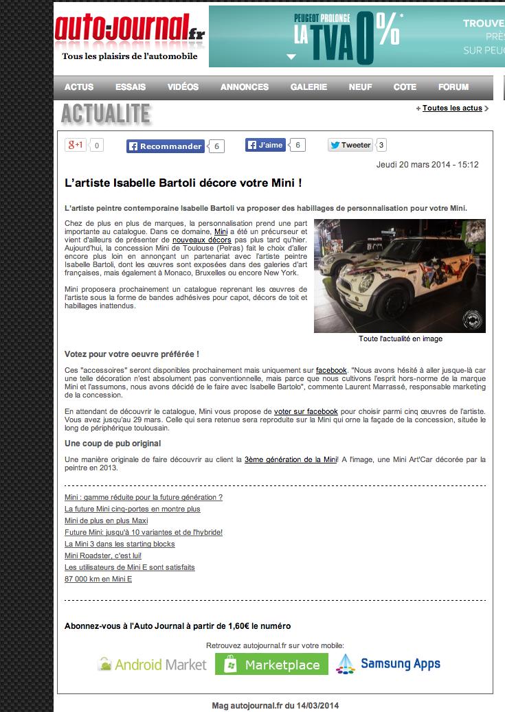 Article Auto Journal Mars 2014