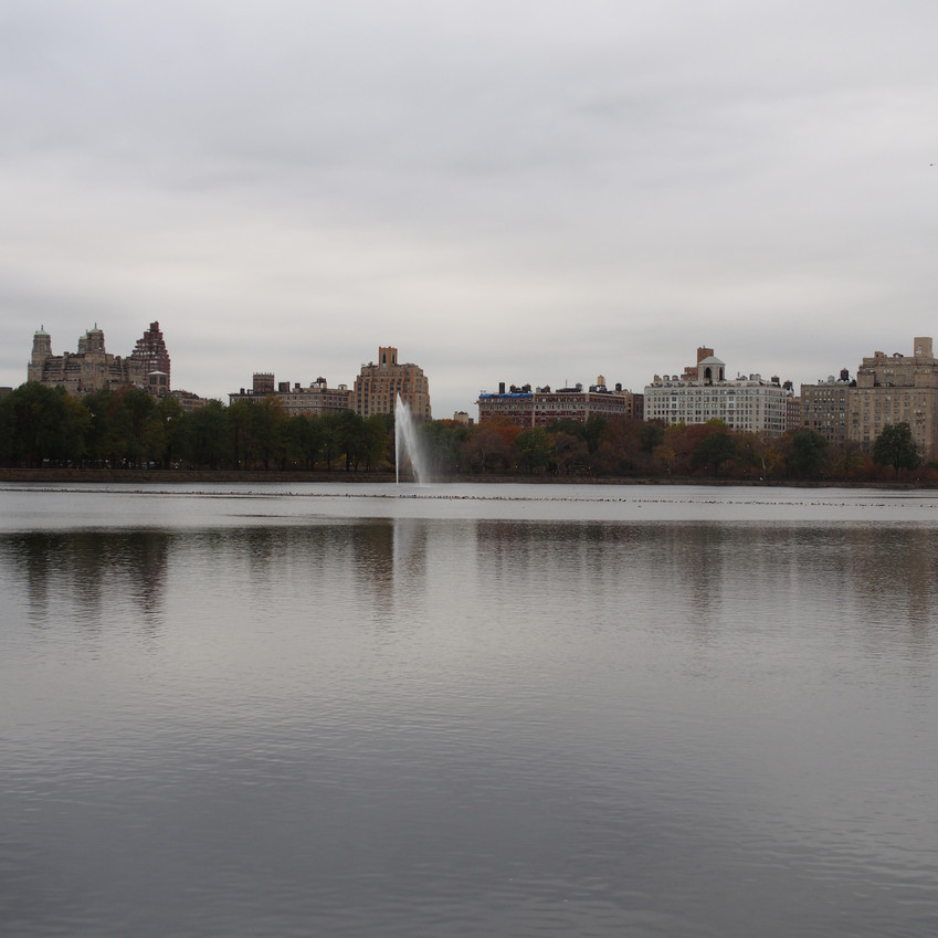 The huge pond in the middle