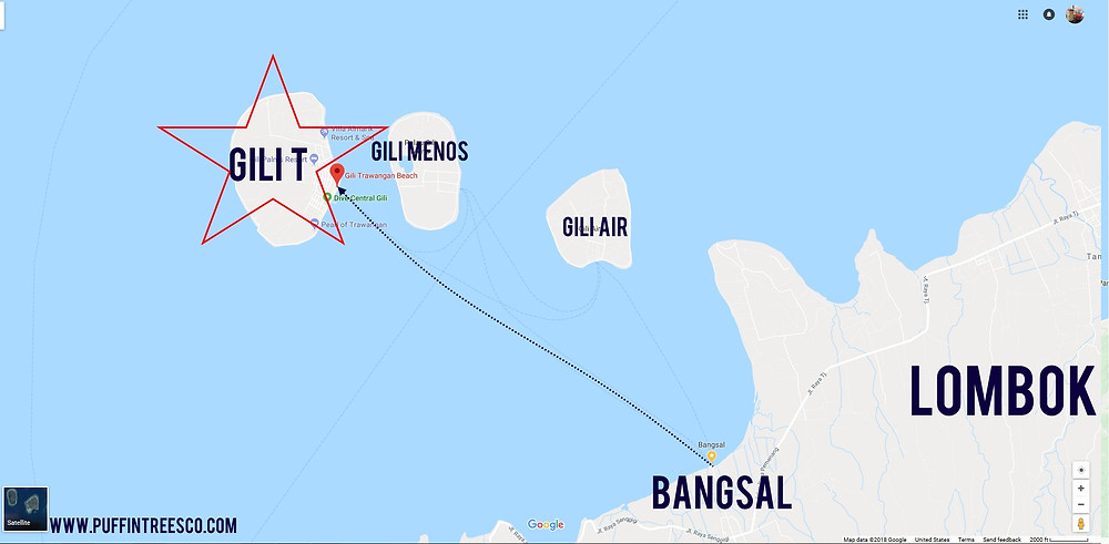 Close - up from Bangsal to GiliT.