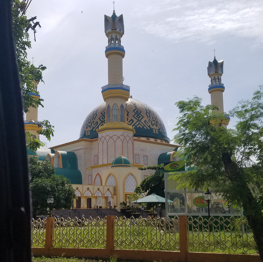 Mosques everywhere in Indonesia.