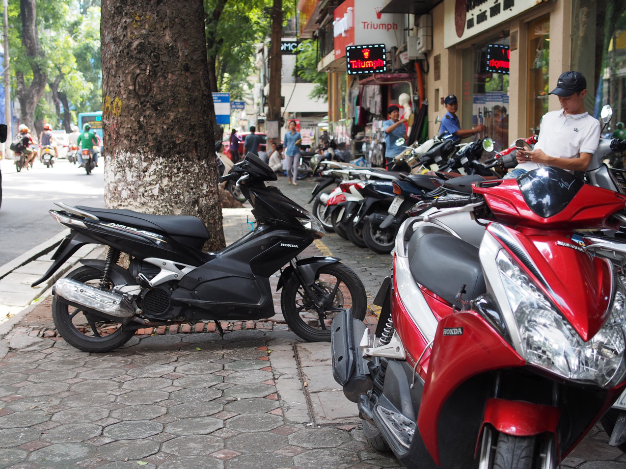 Sidewalk or Motorbike Parking Lot