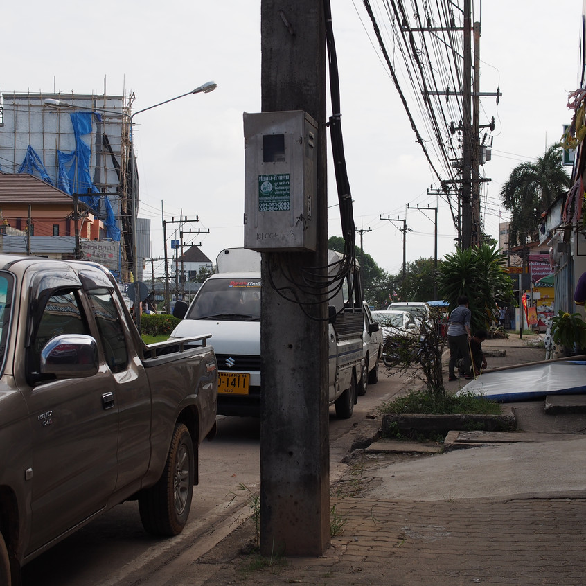 Lack of sidewalks is common in southeast Asia.