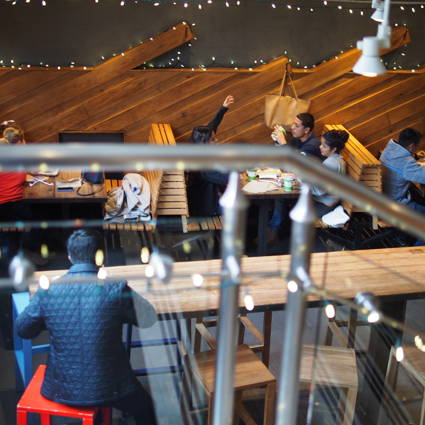 There was plenty of seating indoors and outdoors. The outdoor seating has heaters during the winter time.