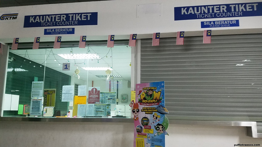 Ticket counter, they do not do money exchanges