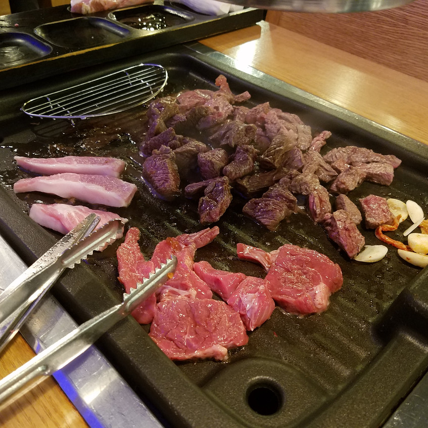 This was our first all you can eat Korean BBQ meal, and it was sooo good! After this night we ate at as many cheap AYCE BBQ places.