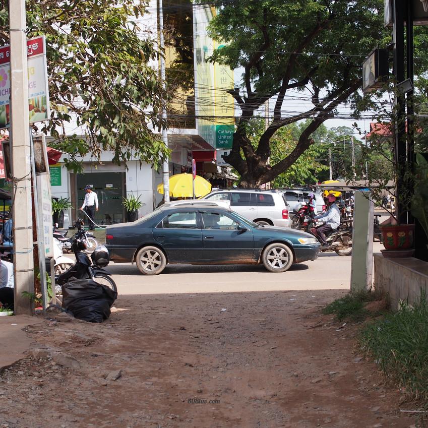 Busy bustling street