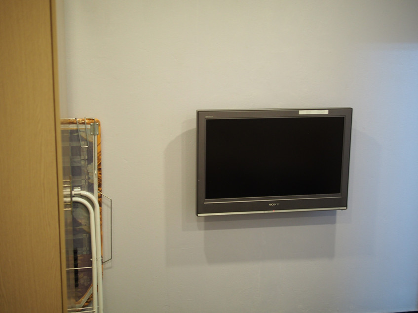 A TV in the lobby?
