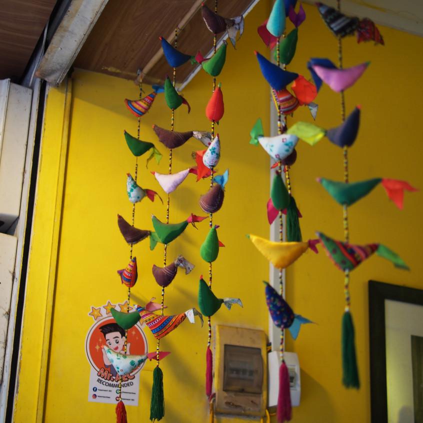 Cute bird string ornaments!