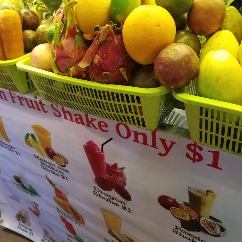 Fresh fruit shakes for $1!