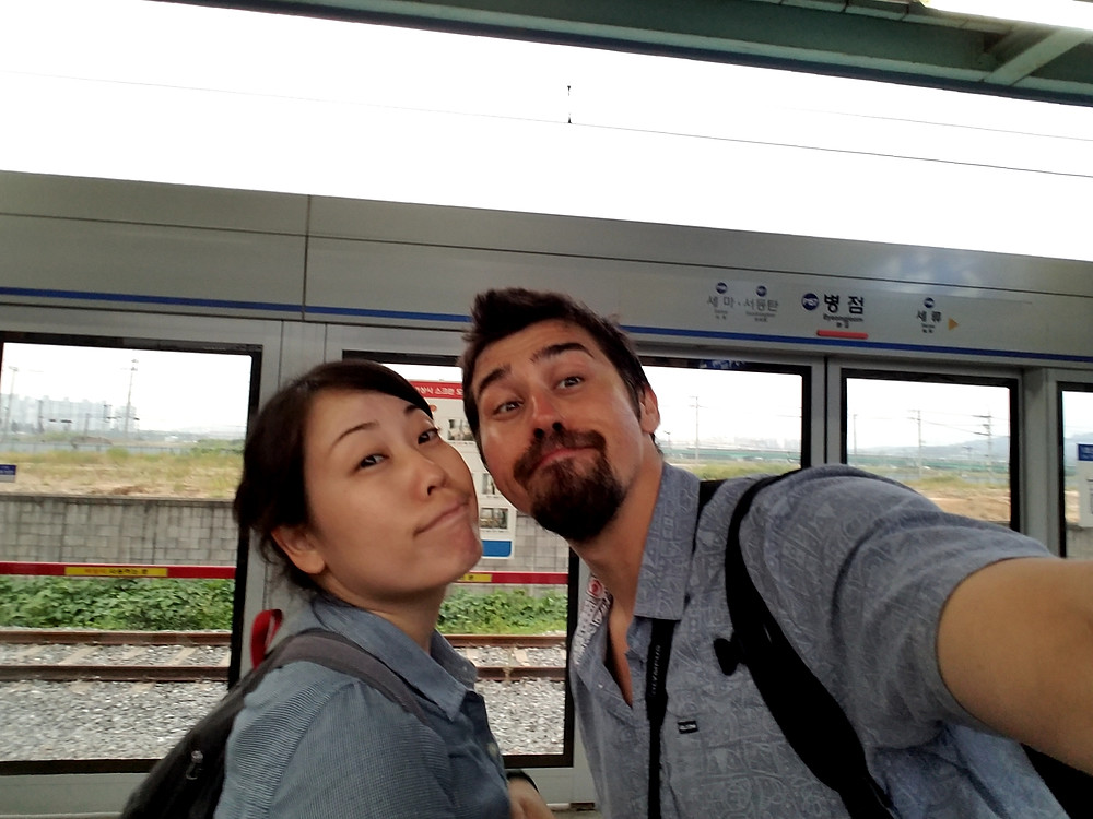 On our way back to Seoul from Byeongjeom Station