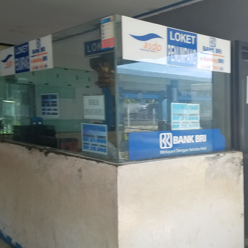 This is the ticket office. The ticket is a hard plastic card that you hand to the ticket person.