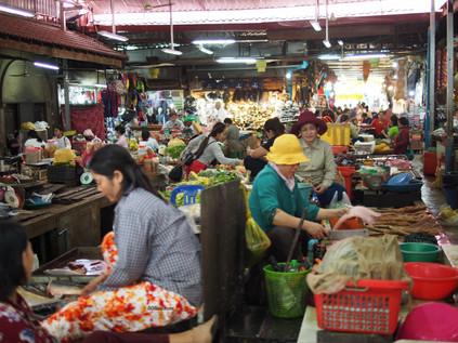 Bustling market
