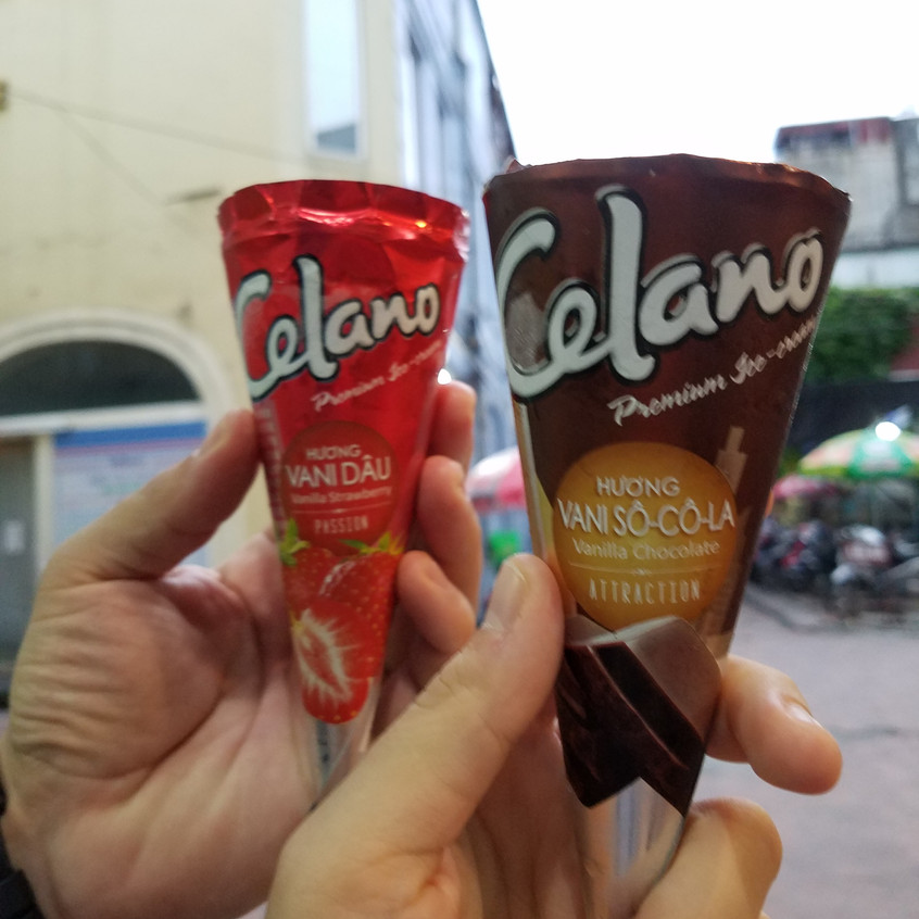 Ice cream was one of the more pricier items in Hanoi. But still wayyy cheaper than the US.