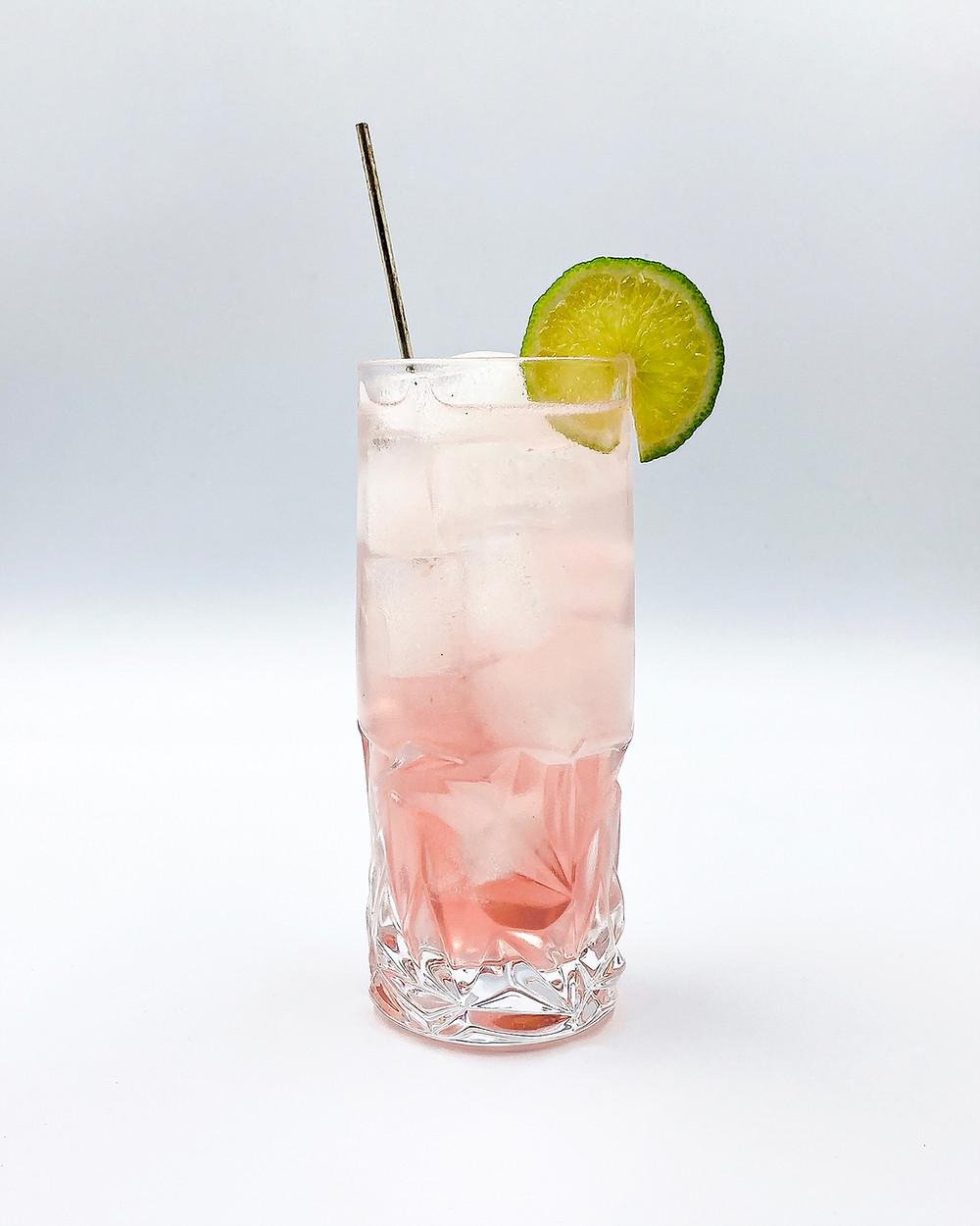 Gin Professors Rhubarb Rickey