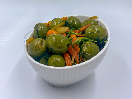 Gin-Infused Olives