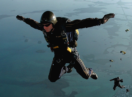 Writing is not like Skydiving!