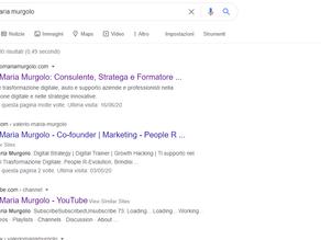 Cosa dice Google di te?