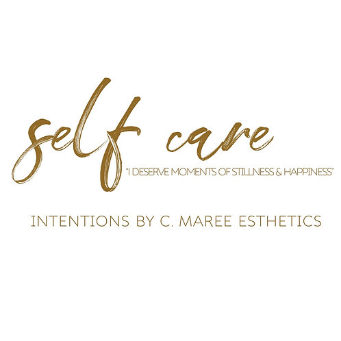INTENTIONS by C  MAREE: Self Care candle
