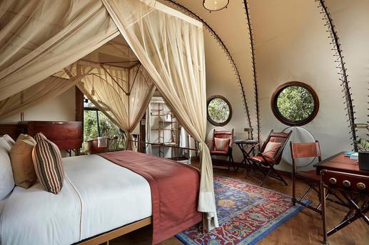Architectural photography, luxury safari tent interior