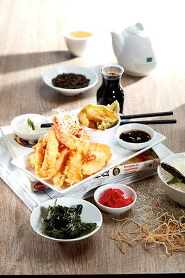 Food photography Japanese style crumbed prawns