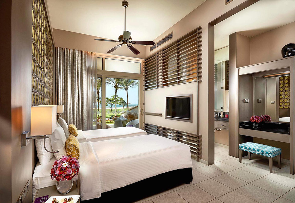 Architectural photography, hotel room
