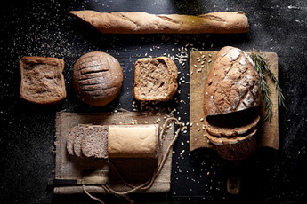 Artisan bread with moody lighting