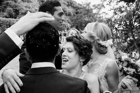 Wedding photography Tasmania, garden wedding celebrations