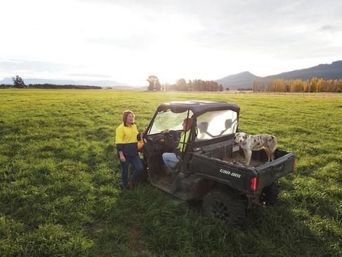 Farmer and ATV in North East Tasmania
