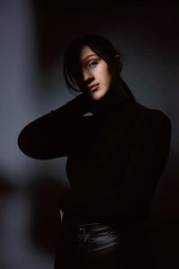 Studio portrait dramatic lighting