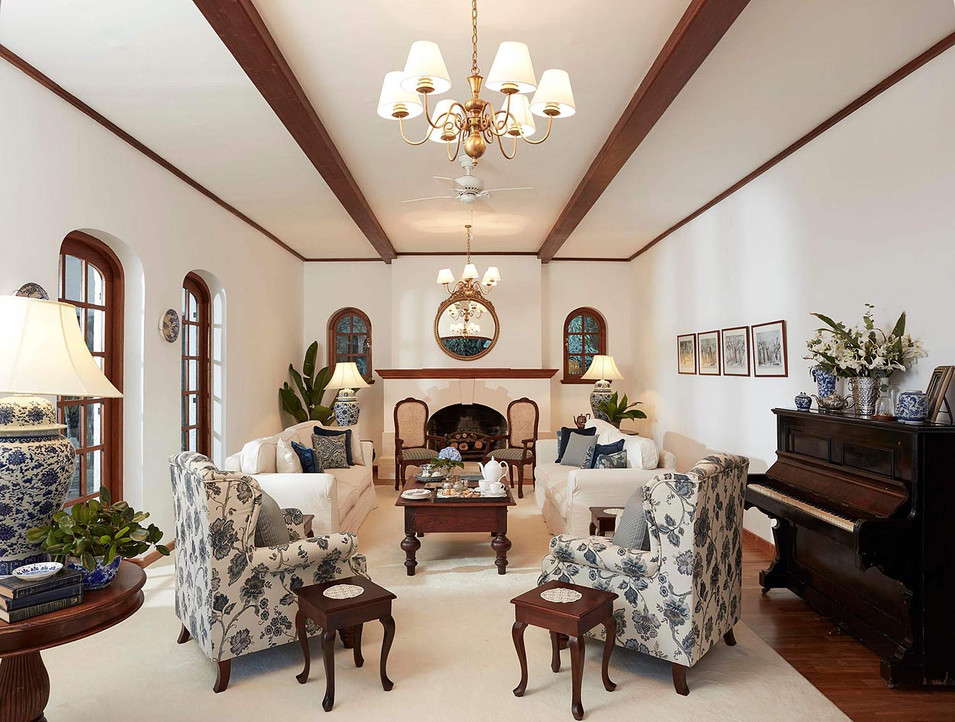 Architectural photography, white decor interior of high end villa