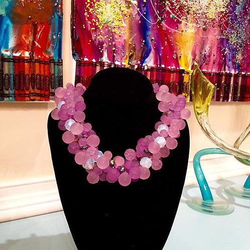 Purple Passion Torsade Necklace