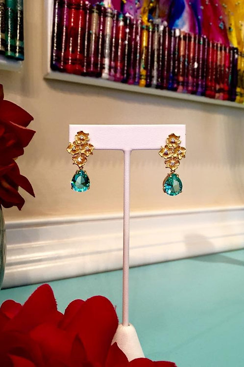 """Forget Me Not"" Paraiba Earrings"
