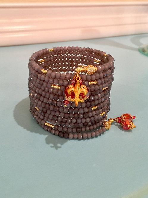 """""""Nuances de Gris """" Crystal Wrap Bracelet"""